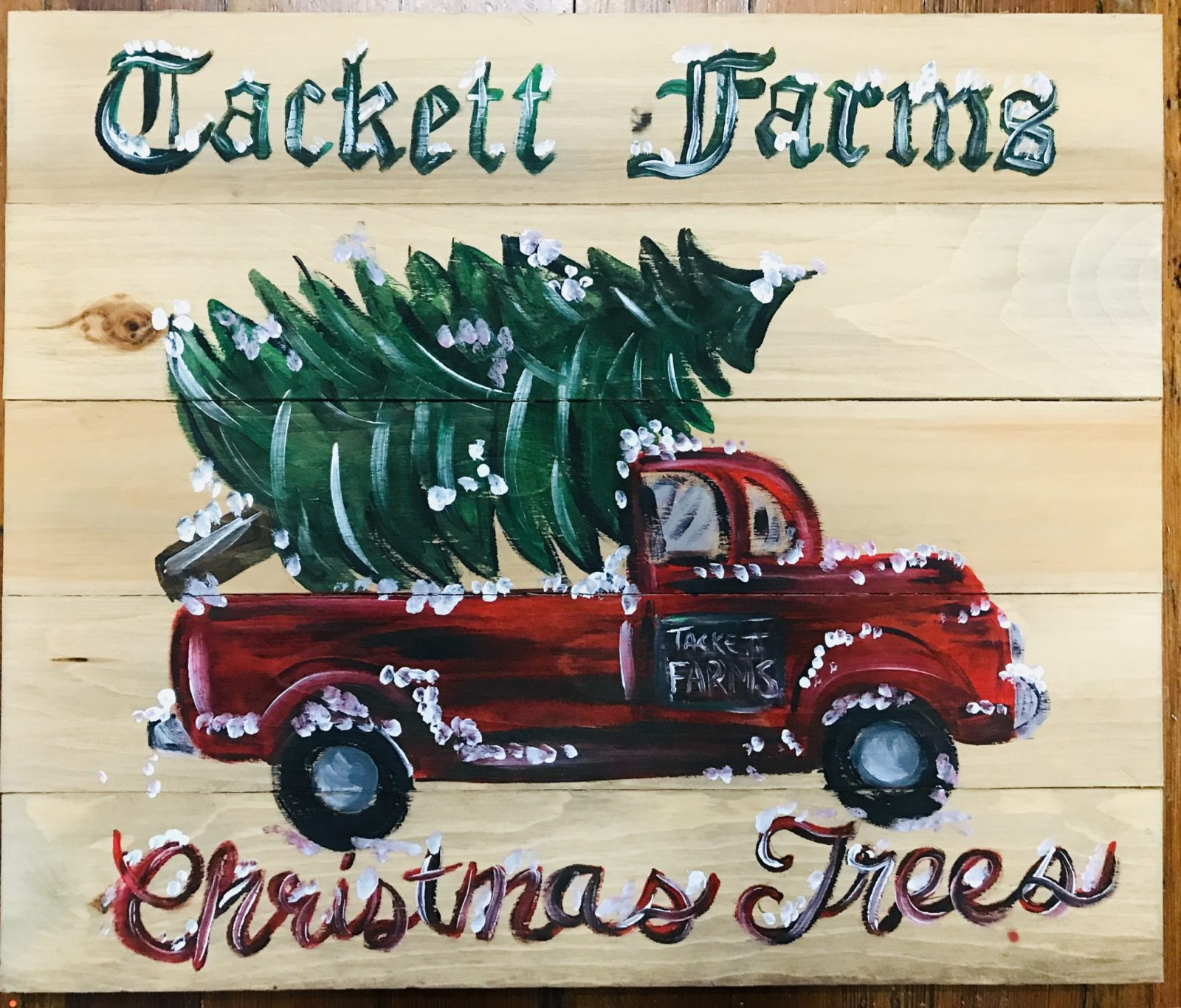 2ft Christmas Wood Pallet Signs