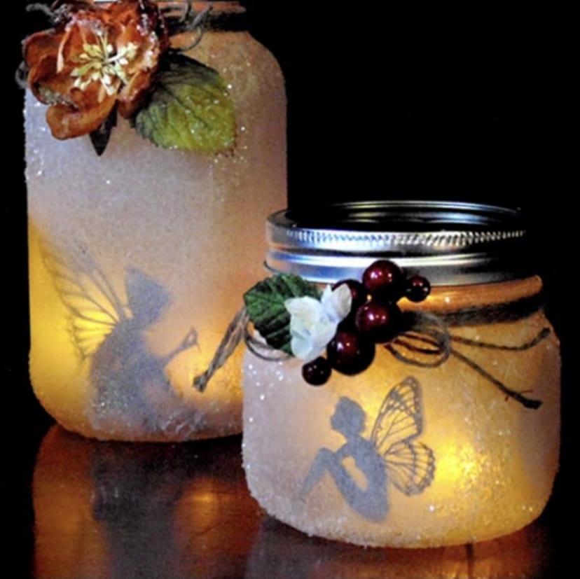 Spring Fairy Garden Jars