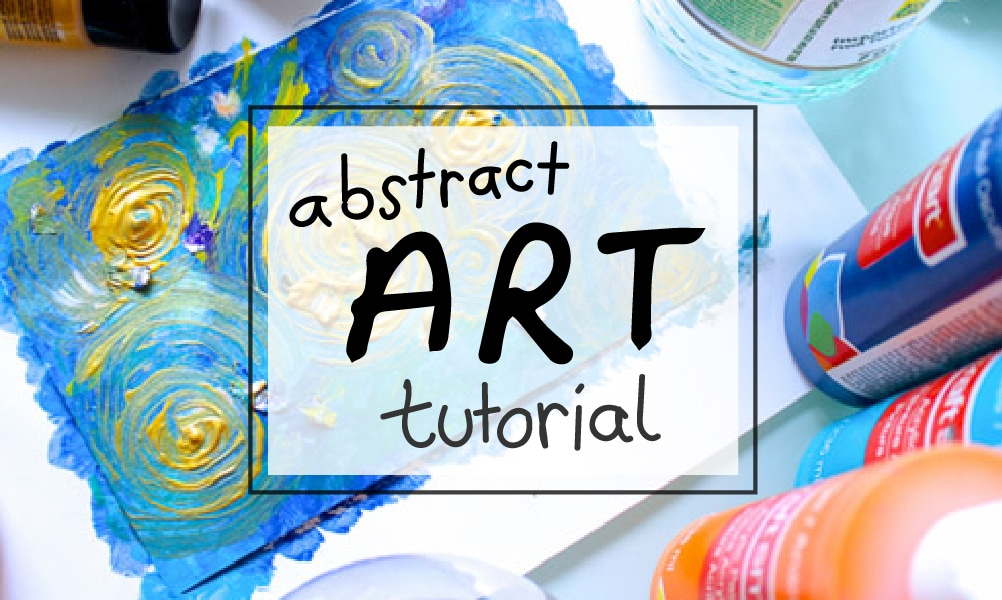 Abstract Art DIY Tutorial for Beginners (with acrylics)