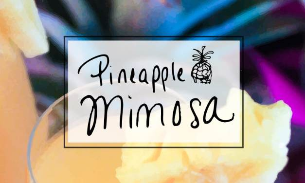 Pineapple mimosa brunch cocktail