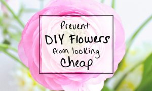 Learn how to prevent a simple floral arrangement from looking cheap in this tutorial for a floral arrangement with pink peonies on a mirror centerpiece. From outdoor garden weddings to rustic barn receptions, these floral garden wedding ideas will help make your DIY floral arrangement look expensive and professional. Make your own flower arrangement for your wedding day. Find more at sipbitego.com