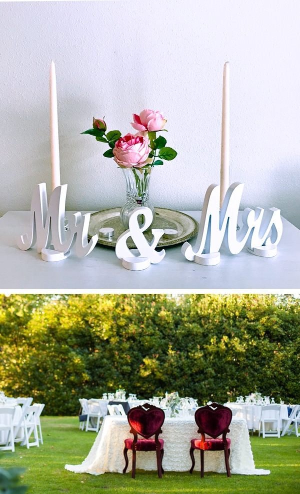 Wedding Contest: Win a Mr and Mrs sweetheart table wedding