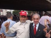 Presidente do SEPESP; João Xavier e  Presidente do SIPESP; João Rebouças.