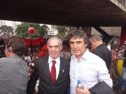 Presidente do SIPESP; João Rebouças e Deputado Estadual; Carlos Giannazi.