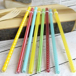 Reusable Patterned Hard Plastic Straws