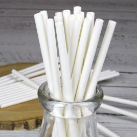 Compostable Paper Straws in Glass