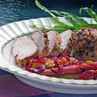 rhubarb and pork loin