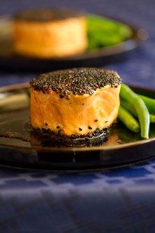 Sesame Salmon Rolls with Wasabi Mayo