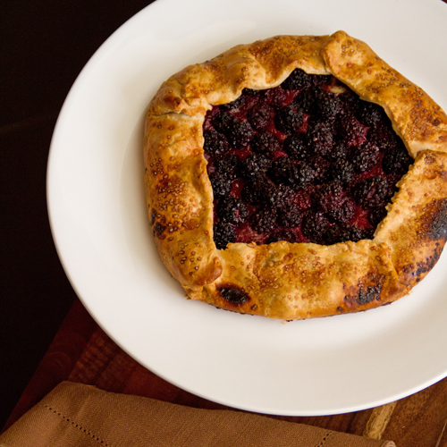 Blackberry Hazelnut galette