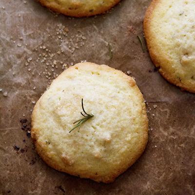 Orange Rosemary Polenta Cookies