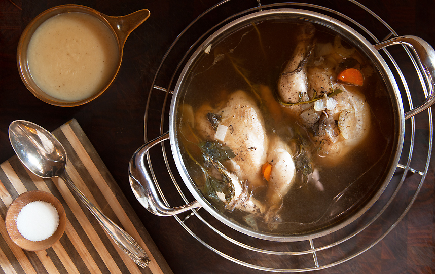 Vinegar Poached Game Hens