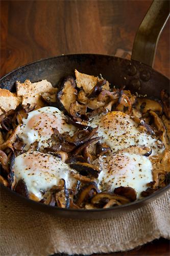 Baked Eggs Mushroom