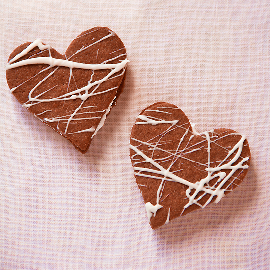 Heart Shaped Chocolate Sandwich Cookies