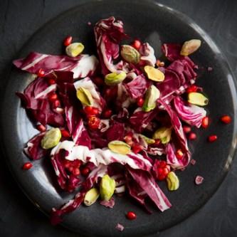 Radicchio Salad with Pomegranate Chile Vinaigrette