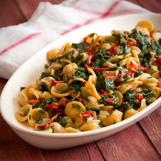 Pasta with Red Chard and Chilies