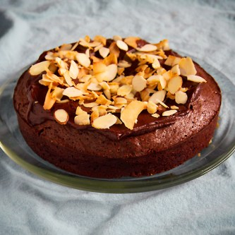 Chocolate Almond and Coconut Cake