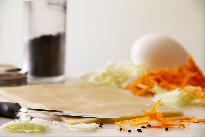 egg rolls prep