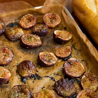 Roasted Figs with Honey and Rosemary