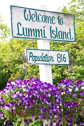 Lummi Island Sign