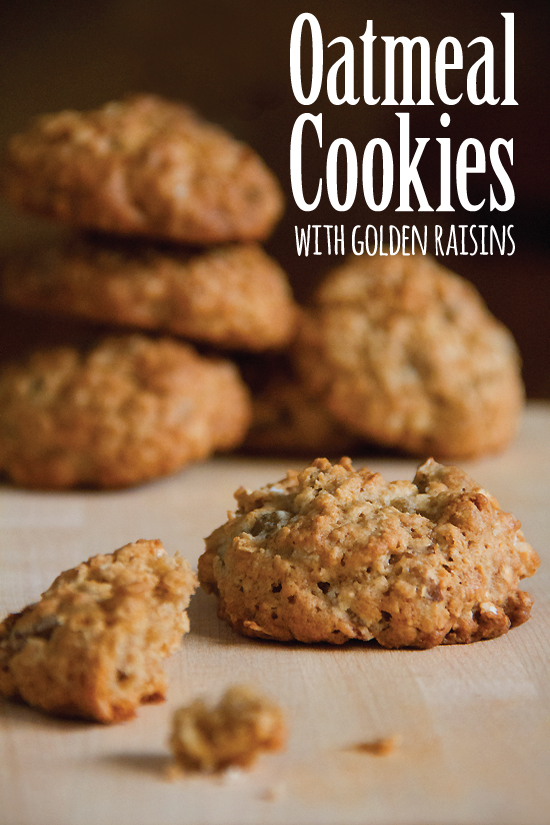 Maple-Oatmeal Cookies with Golden Raisins