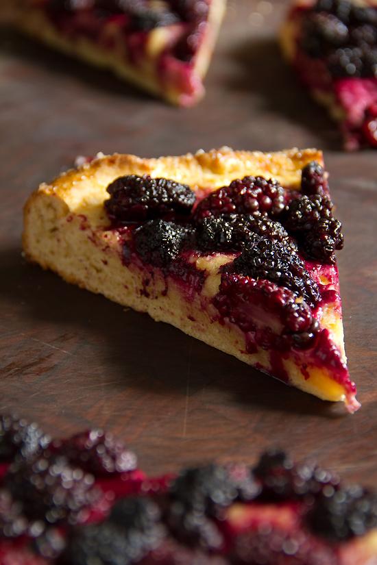 Blackberry Brioche Tart