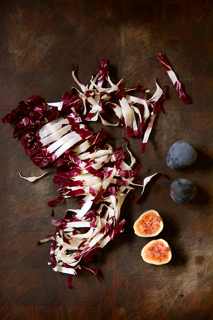 Fig sandwich with radicchio