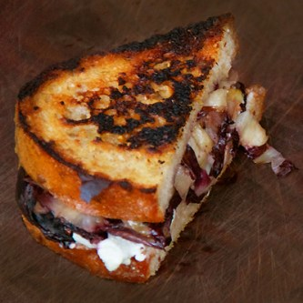 Grilled Blue Cheese, Radicchio and Fig Sandwiches