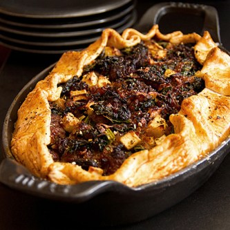 Sweet Sausage, Kale & Apple Pie