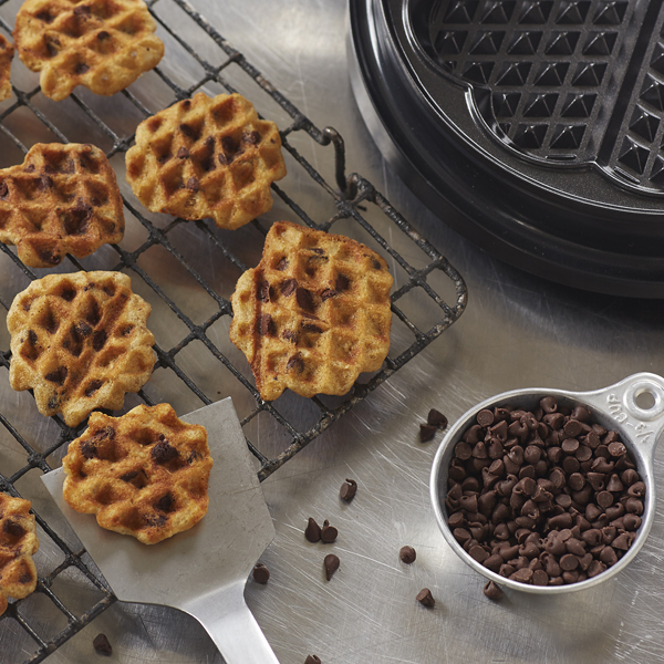 Waffled Oatmeal Chocolate Chip Cookies