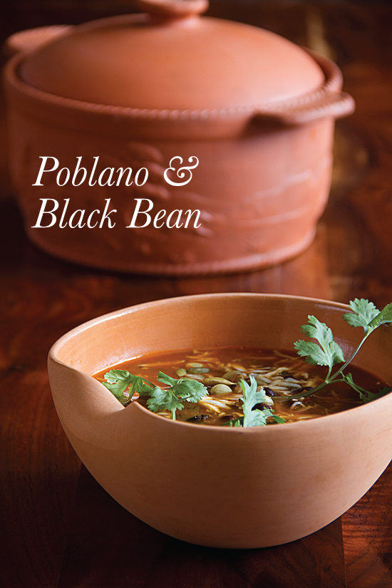 Black Bean Soup with Poblano Chilies