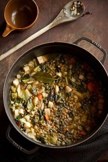 Garlicky Lentil Soup