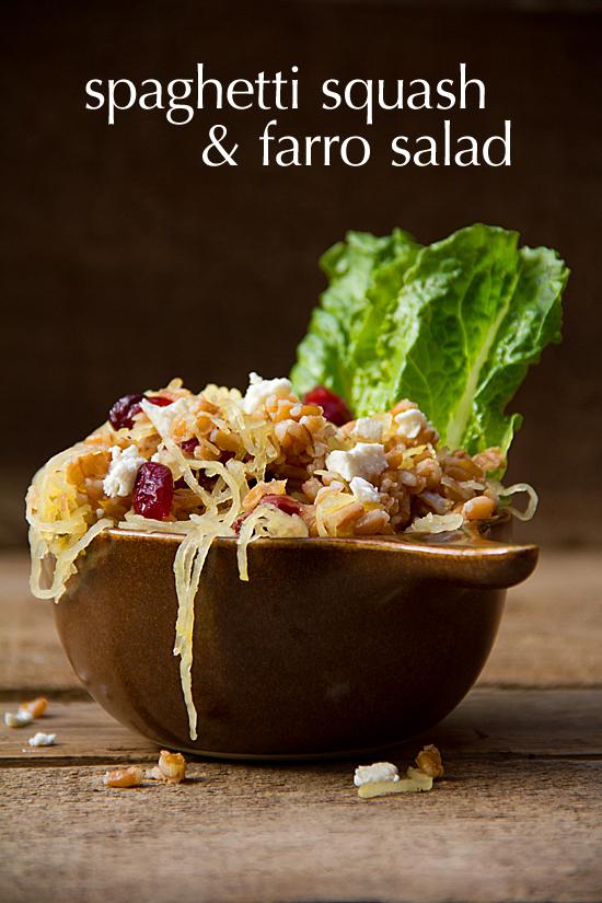 Spaghetti Squash Salad with Farro
