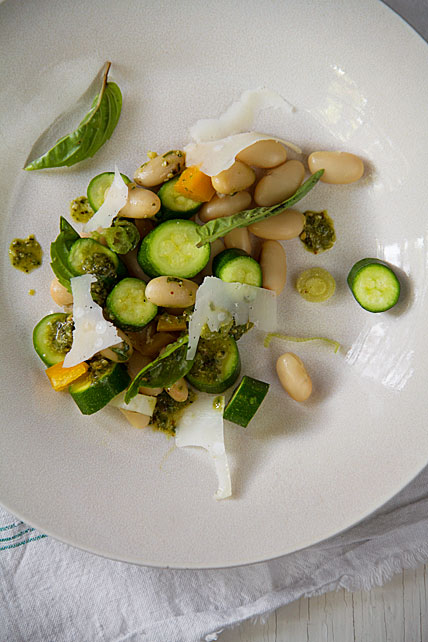 Farmers Market Baby Zucchini Salad
