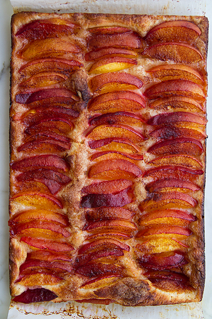 Sweet Focaccia with Summer Fruit