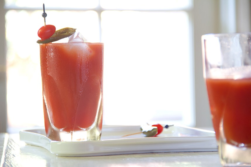 Breakfast Booze: Tequila Bloody Maria with Pickled jalapeño