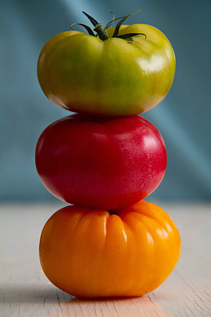 Stack of Heirloom Tomatoes