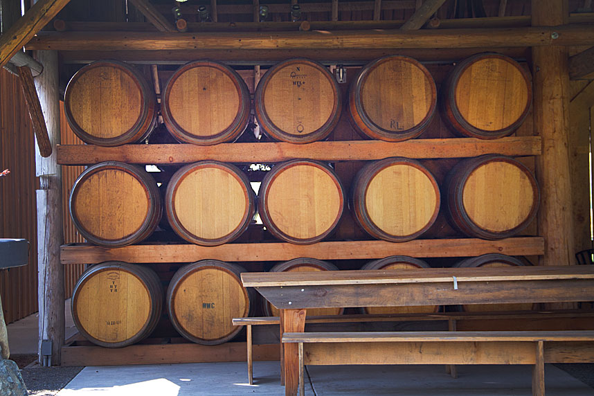 Wine Tasting Barrels in Jacksonville, Oregon