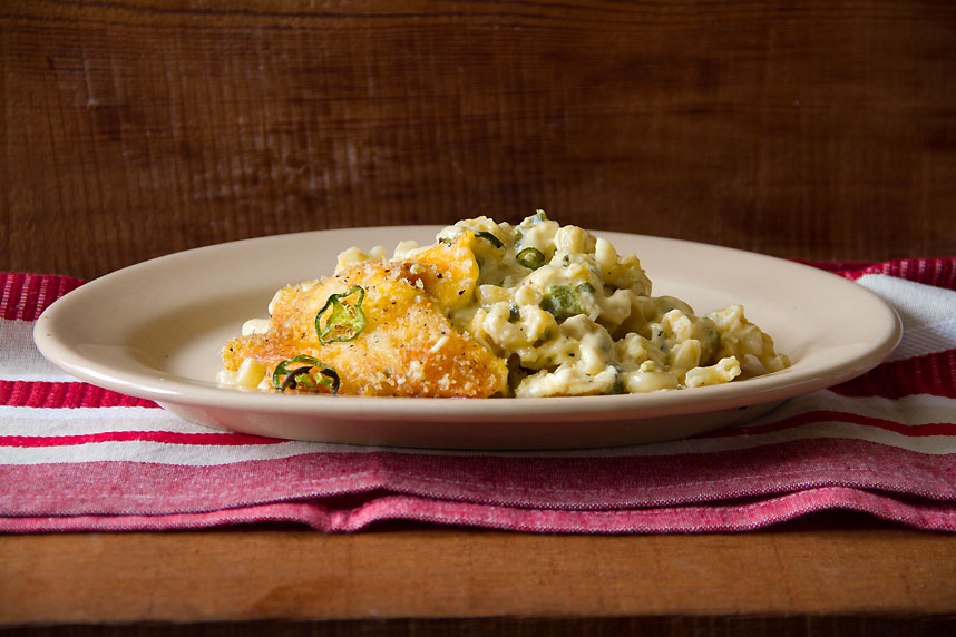 Poblano Jack Mac and Cheese: Southern Heat Cookbook