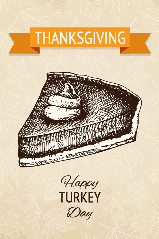 Thanksgiving Pie Illustration Shutterstock