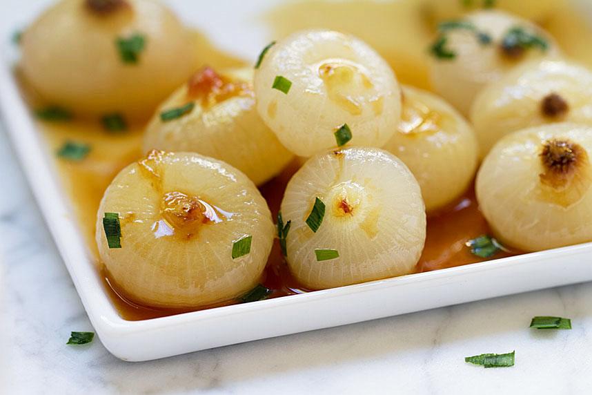 glazed cipollini onions
