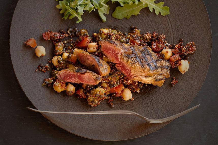 Lamb Vadouvan with Lentils, Quinoa, & Chickpeas