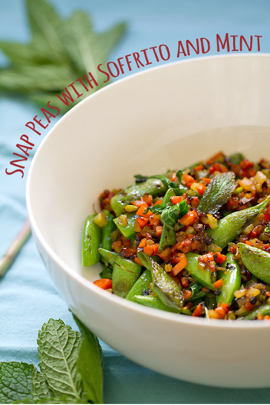Sugar Snap Peas with Soffrito and Mint