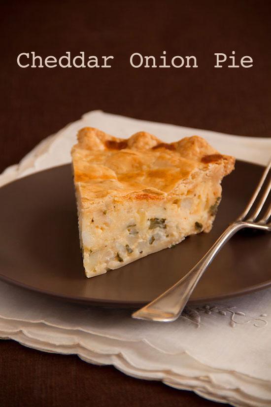 English Farmhouse Cheddar Onion Pie