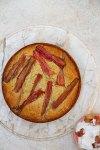 Pistachio-Rhubarb Yogurt Cake