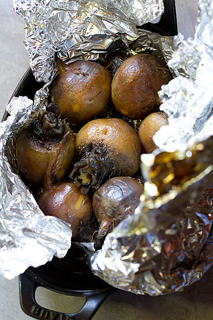 Roasted Beets in Foil