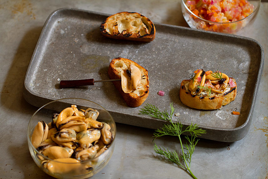 The Basque Book: Mussels Escabeche