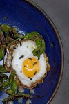 Blistered Shishito Peppers with Fried Eggs