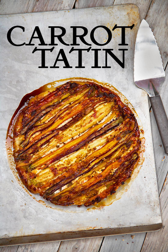 Savory Tarte Tatin with Spiced Carrots and Feta