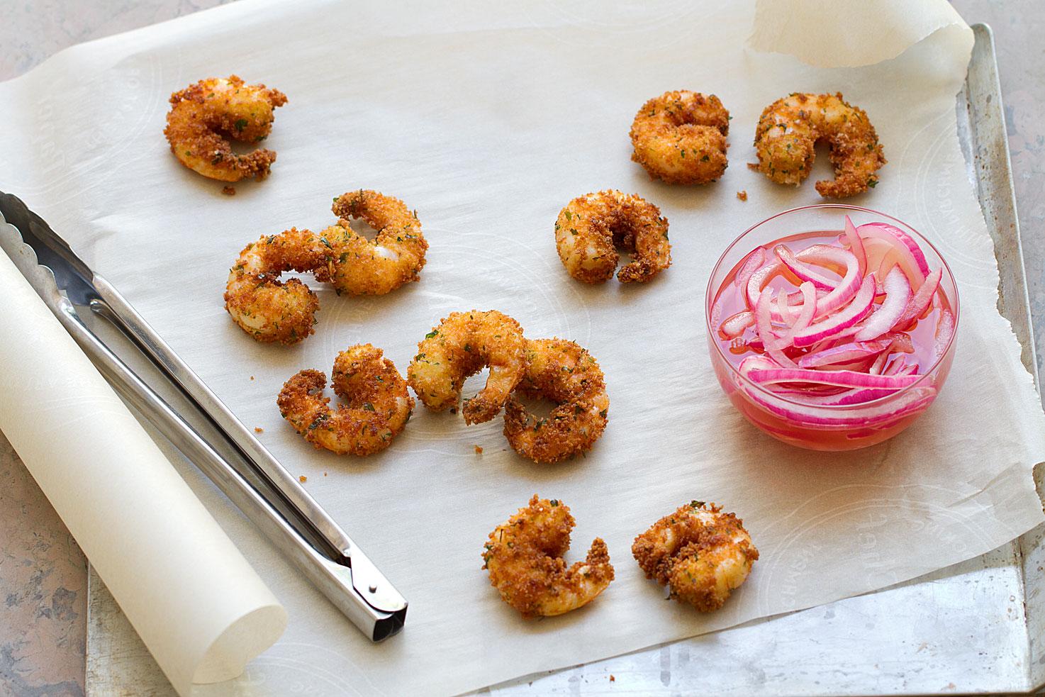 Panko Fried Shrimp for Spicy Shrimp Roll