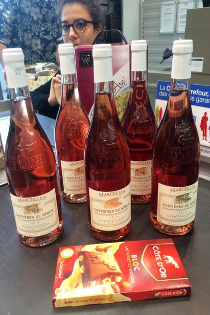 Rose Wine in the Ardèche in the Rhône-Alps, France